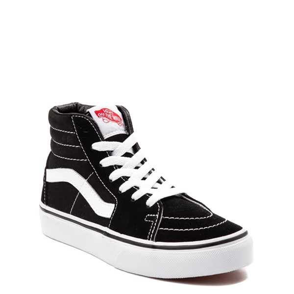 alternate view Vans Sk8 Hi Skate Shoe - Little Kid / Big Kid - Black / WhiteALT1