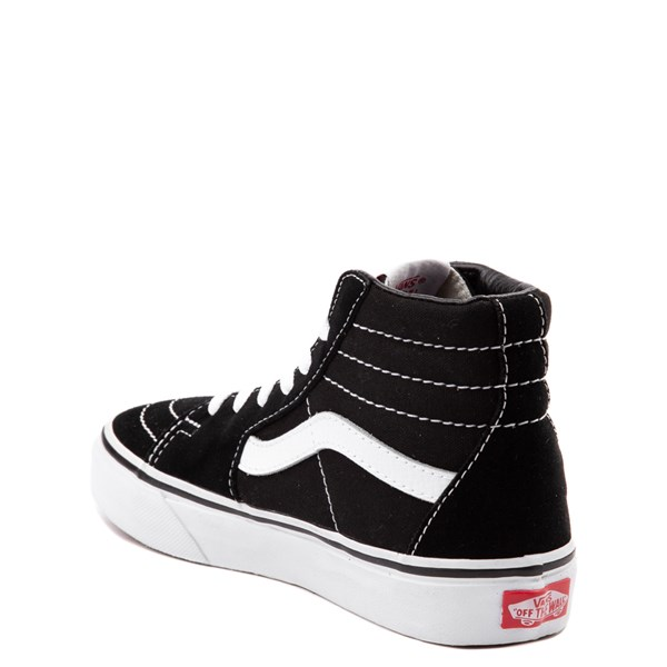 alternate view Vans Sk8 Hi Skate Shoe - Little Kid / Big Kid - Black / WhiteALT2