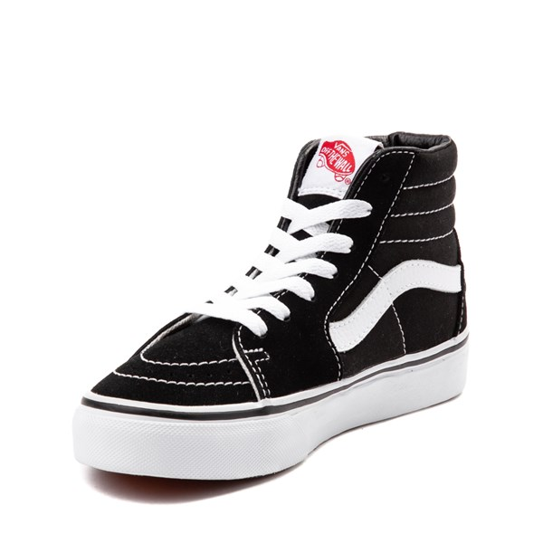 alternate view Vans Sk8 Hi Skate Shoe - Little Kid / Big Kid - Black / WhiteALT3
