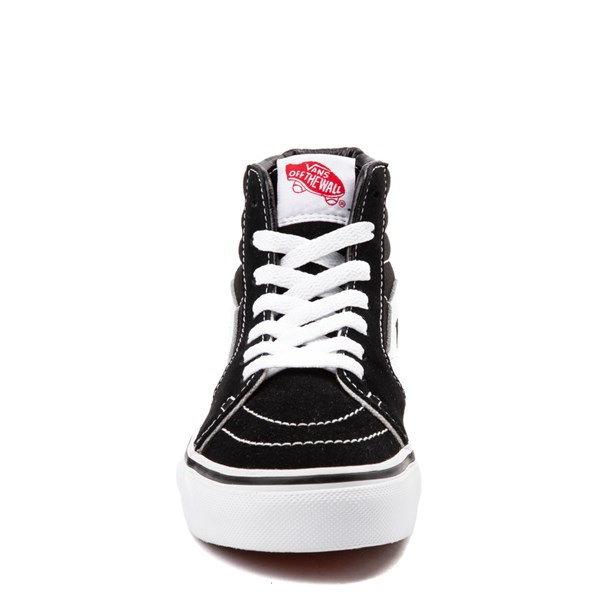 alternate view Vans Sk8 Hi Skate Shoe - Little Kid / Big Kid - Black / WhiteALT4