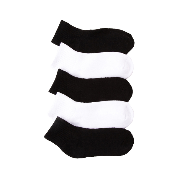 Main view of Quarter Top 5pk Socks - Little Kid - Black / White