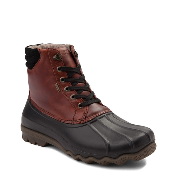 alternate view Mens Sperry Top-Sider Duck Boot - Black / BurgundyALT1
