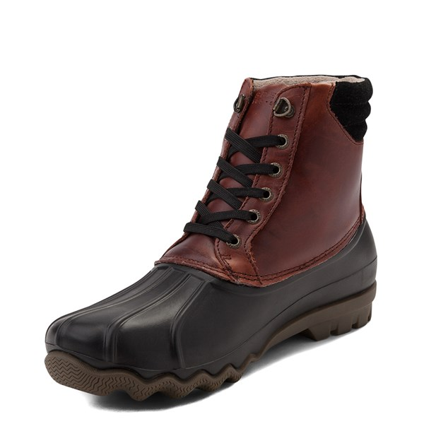 alternate view Mens Sperry Top-Sider Duck Boot - Black / BurgundyALT3