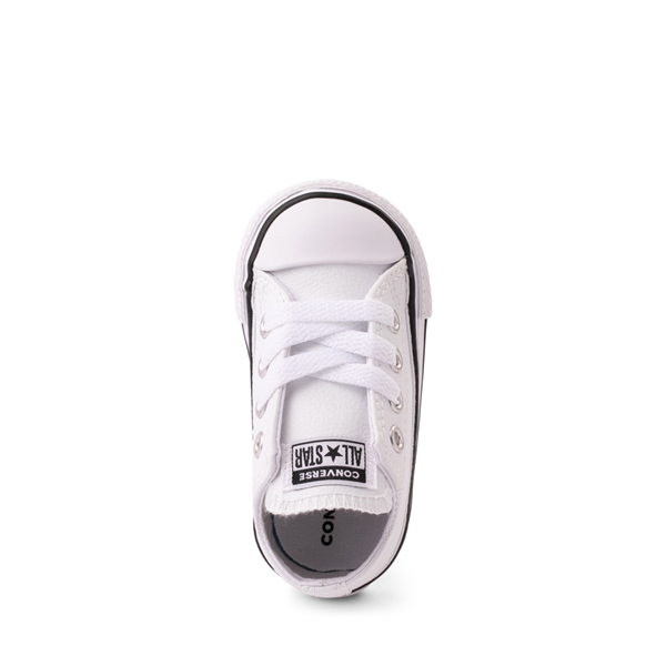 alternate view Converse Chuck Taylor All Star Lo Leather Sneaker - Baby / Toddler - WhiteALT2