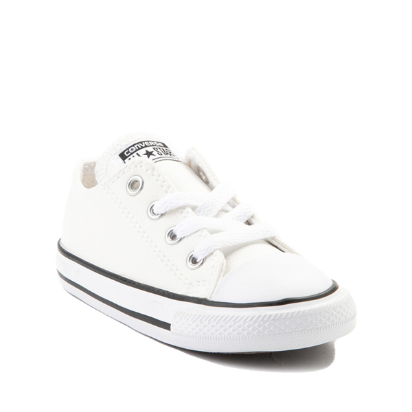 alternate view Converse Chuck Taylor All Star Lo Leather Sneaker - Baby / Toddler - WhiteALT5