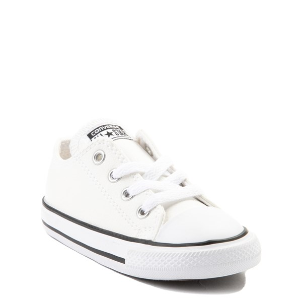 alternate view Converse Chuck Taylor All Star Lo Leather Sneaker - Baby / Toddler - WhiteALT1