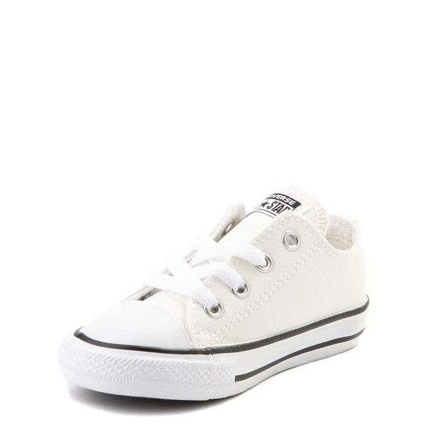 alternate view Converse Chuck Taylor All Star Lo Leather Sneaker - Baby / Toddler - WhiteALT3
