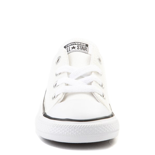 alternate view Converse Chuck Taylor All Star Lo Leather Sneaker - Baby / Toddler - WhiteALT4