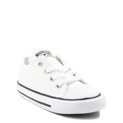 Alternate view of Converse Chuck Taylor All Star Lo Leather Sneaker - Baby / Toddler - White