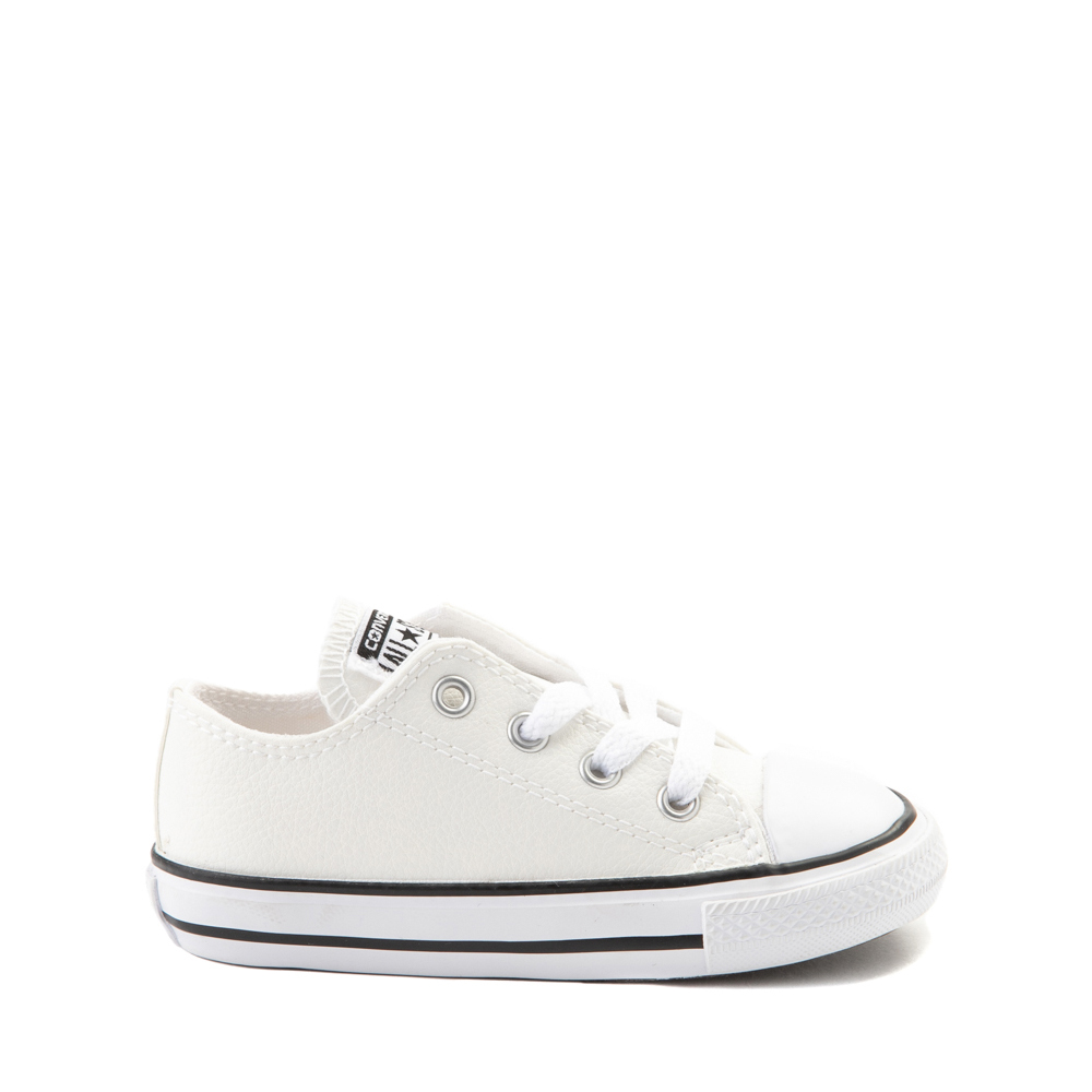 Converse Chuck Taylor All Star Lo Leather Sneaker - Baby / Toddler - White