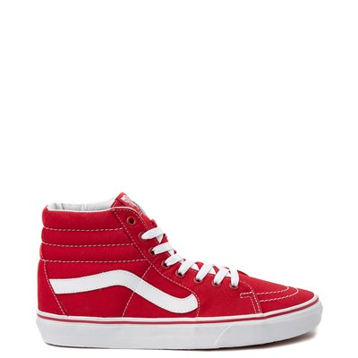 Main view of Red Vans Sk8 Hi Skate Shoe