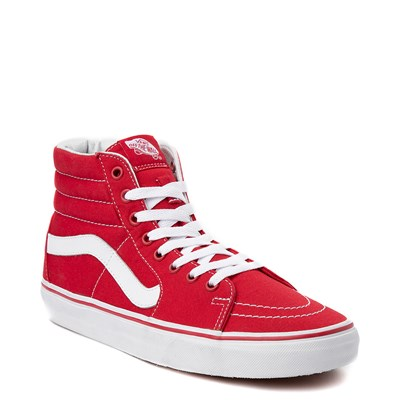 Alternate view of Red Vans Sk8 Hi Skate Shoe