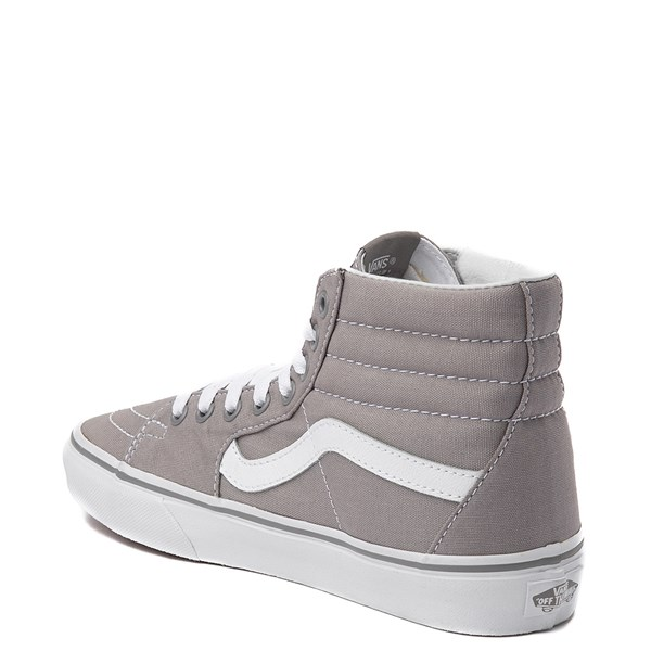 alternate view Vans Sk8 Hi Skate Shoe - Light Gray / WhiteALT2