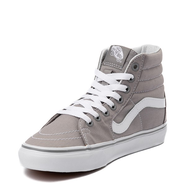 alternate view Vans Sk8 Hi Skate Shoe - Light Gray / WhiteALT3