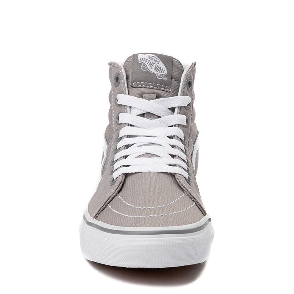 alternate view Vans Sk8 Hi Skate Shoe - Light Gray / WhiteALT4