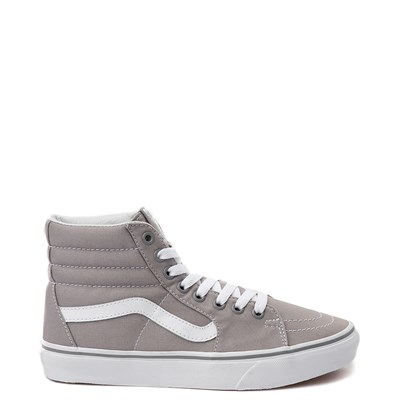 Main view of Vans Sk8 Hi Skate Shoe - Light Gray / White