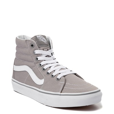 Alternate view of Vans Sk8 Hi Skate Shoe - Light Gray / White