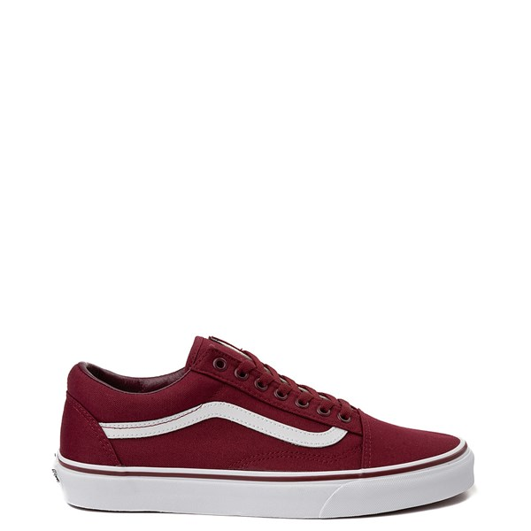Vans Old Skool Skate Shoe - Burgundy / White
