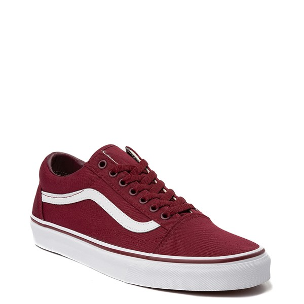 alternate view Vans Old Skool Skate Shoe - Burgundy / WhiteALT1