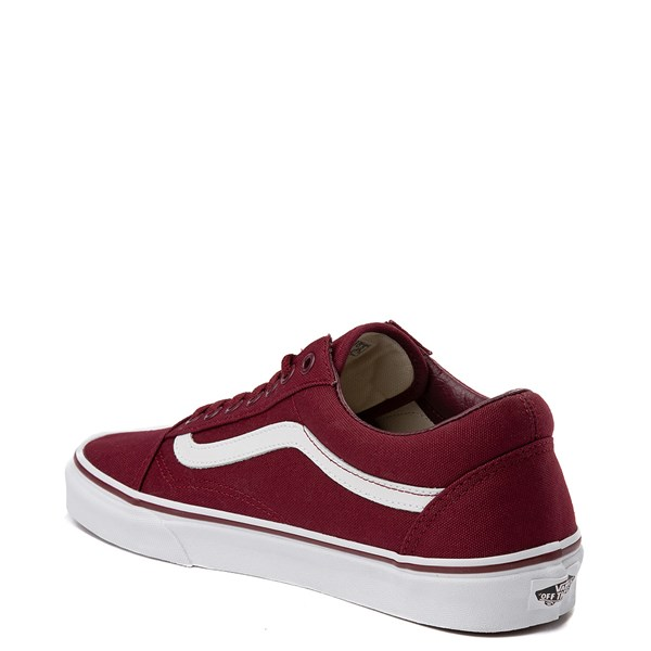 alternate view Vans Old Skool Skate Shoe - Burgundy / WhiteALT2