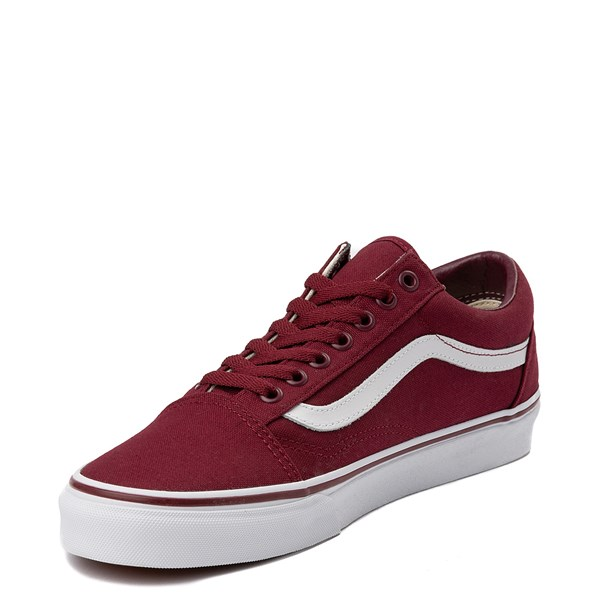 alternate view Vans Old Skool Skate Shoe - Burgundy / WhiteALT3