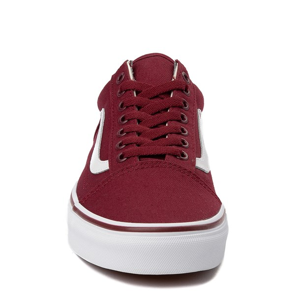 alternate view Vans Old Skool Skate Shoe - Burgundy / WhiteALT4