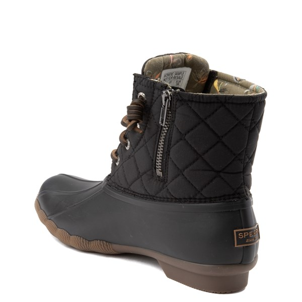 alternate view Womens Sperry Top-Sider Saltwater Quilted Nylon Duck Boot - BlackALT2
