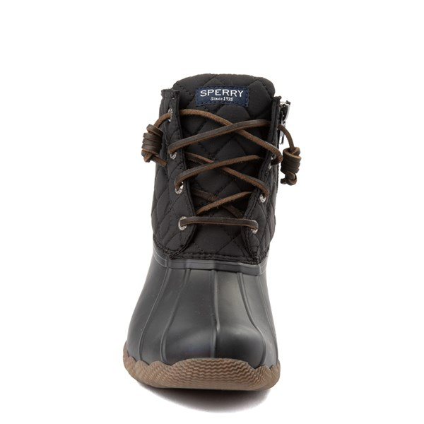 alternate view Womens Sperry Top-Sider Saltwater Quilted Nylon Duck Boot - BlackALT4