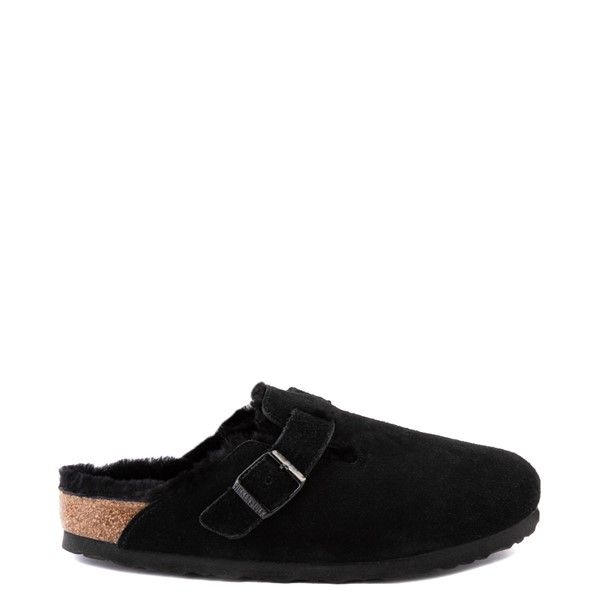 Main view of Womens Birkenstock Boston Shearling Clog - Black