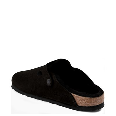 Alternate view of Womens Birkenstock Boston Shearling Clog - Black