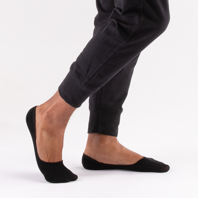 Alternate view of Mens Casual Liners 5 Pack - Black