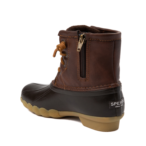 alternate view Sperry Top-Sider Saltwater Boot - Little Kid / Big Kid - BrownALT1