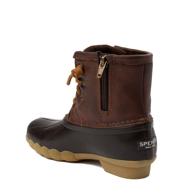 alternate view Sperry Top-Sider Saltwater Boot - Little Kid / Big Kid - BrownALT2