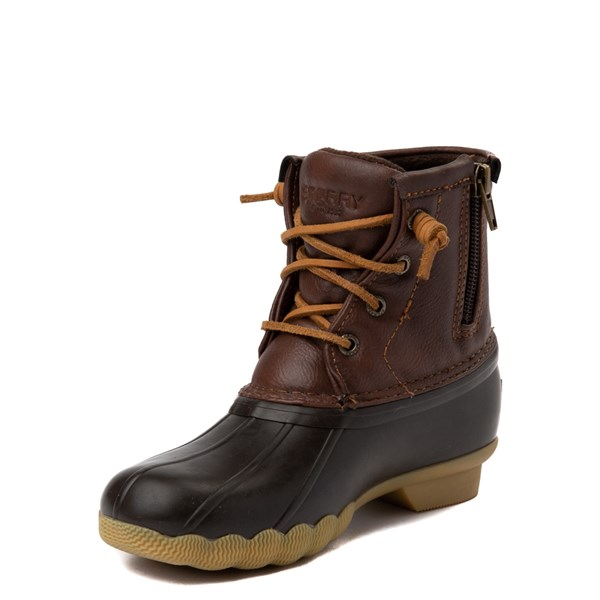 alternate view Sperry Top-Sider Saltwater Boot - Little Kid / Big Kid - BrownALT3