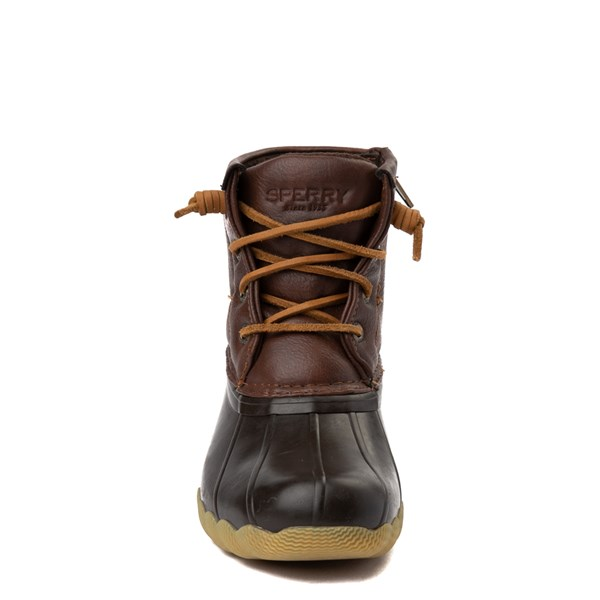 alternate view Sperry Top-Sider Saltwater Boot - Little Kid / Big Kid - BrownALT4