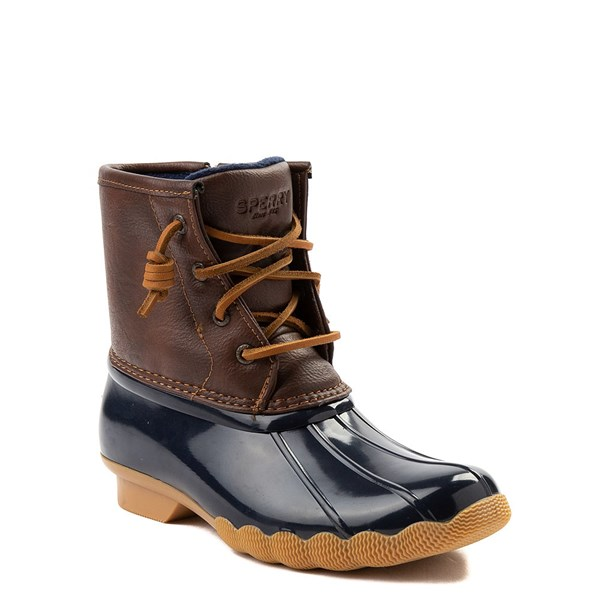 alternate view Sperry Top-Sider Saltwater Boot - Little Kid / Big Kid - NavyALT1
