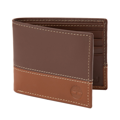 Main view of Timberland Bi-Fold Wallet - Brown / Tan