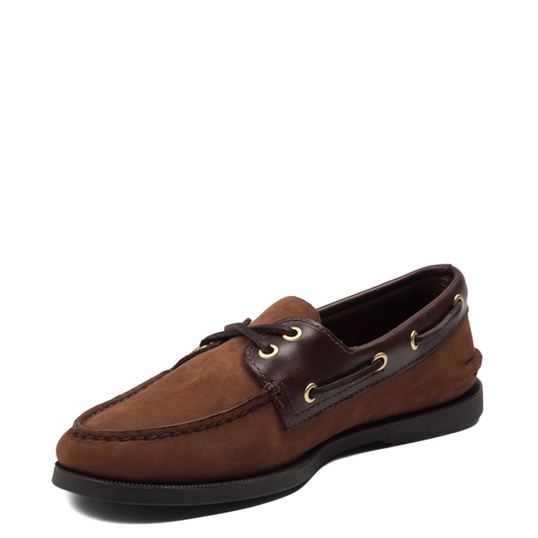 alternate view Mens Sperry Top-Sider Authentic Original Boat Shoe - Dark BrownALT3