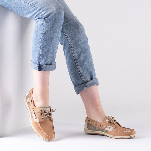 alternate view Womens Sperry Top-Sider Songfish Boat Shoe - Linen / OatB-LIFESTYLE1