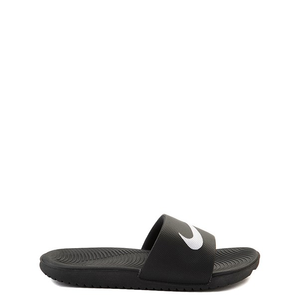 Main view of Nike Kawa Slide Sandal - Little Kid / Big Kid - Black
