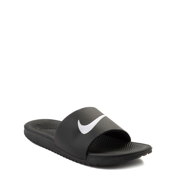 alternate view Nike Kawa Slide Sandal - Little Kid / Big Kid - BlackALT1