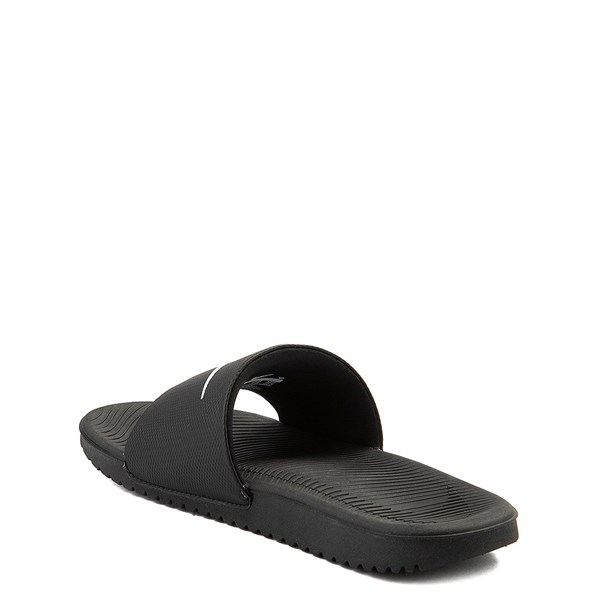 alternate view Nike Kawa Slide Sandal - Little Kid / Big Kid - BlackALT2