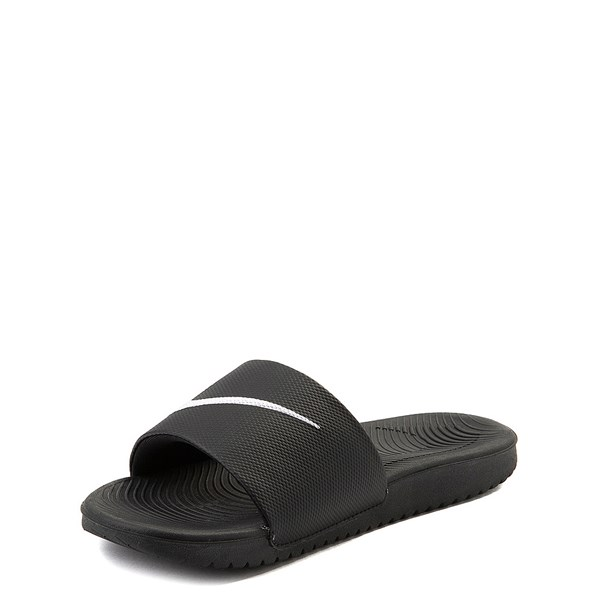 alternate view Nike Kawa Slide Sandal - Little Kid / Big Kid - BlackALT3