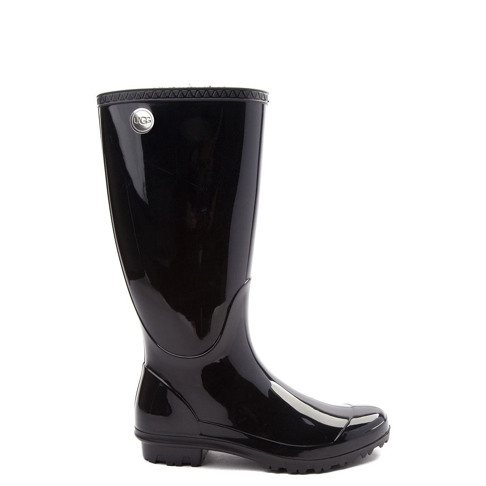 Womens UGG® Shaye Tall Rain Boot - Black