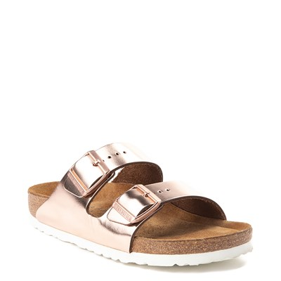 Alternate view of Womens Birkenstock Arizona Soft Footbed Sandal - Copper