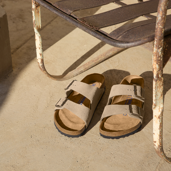 alternate view Womens Birkenstock Arizona Soft Footbed Sandal - StoneALT1B