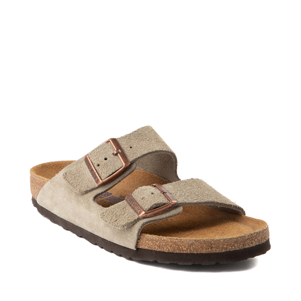 alternate view Womens Birkenstock Arizona Soft Footbed Sandal - StoneALT5