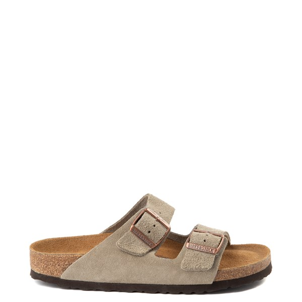 Main view of Womens Birkenstock Arizona Soft Footbed Sandal - Stone