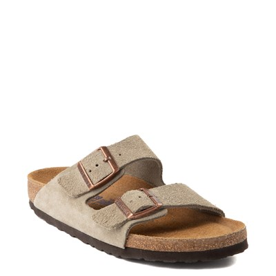 Alternate view of Womens Birkenstock Arizona Soft Footbed Sandal - Stone