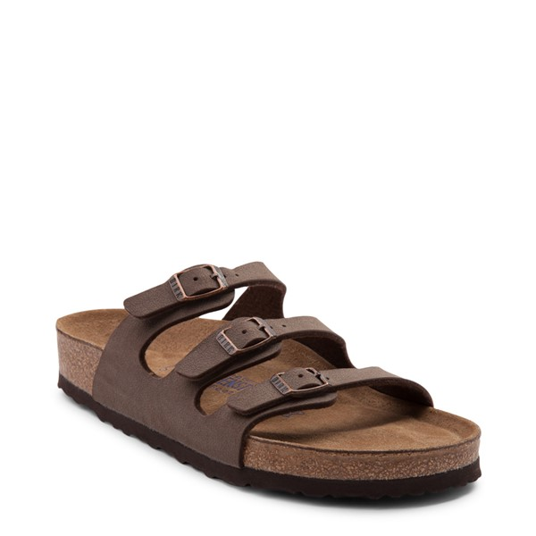 alternate view Womens Birkenstock Florida Soft Footbed Sandal - BrownALT5